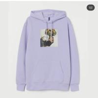 hoodie h&m ariana grande ungu