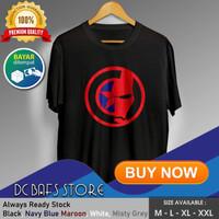 Baju Kaos Tshirt Superhero Super Hero Dewasa Premium Marvel Civil War - Putih, M