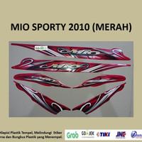 Mio Sporty 2010 Merah Motor Yamaha Stiker Striping Stripping Sticker