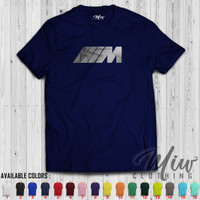 Kaos/Baju BMW M Logo Tshirt Silver Print Edition