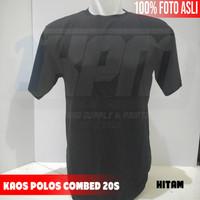 KAOS POLOS COTTON COMBED 20S HITAM
