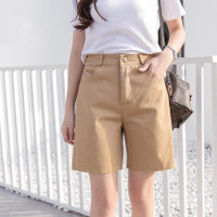 Celana Pendek Wanita Hotpants Style Korea Bahan American USA Drill