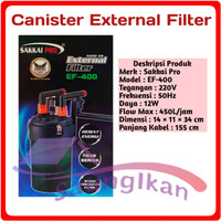 Canister External Filter Aquarium Aquascape SAKKAI PRO EF 400