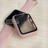 Case Apple Watch 4 5 6 SE Casing & Glass Full Cover TG Hard 40mm 44mm