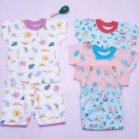 Baju Anak Bayi Little Q Stelan Lengan Suai Celana 3/4 SNI Pakaian Baby