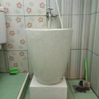 bak mandi minimalis batu terasso 65x45cm