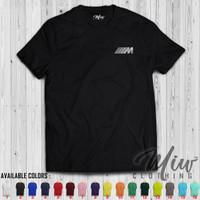Tshirt/Baju/Kaos BMW M Logo Silver Print Edition