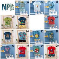 Baju rumah/ santai / setelan import anak laki BRAND MELODY - NPB A