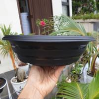 Pot bunga plastik Bonsai Super Tawon Azalea BAZ 25 Hitam (25cm)