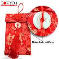 Tokyo1 Amplop Tinggi Angpao kain Lux Batu Jade Imitasi (148751)