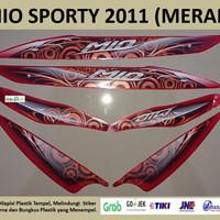 Mio Sporty 2011 Merah Motor Yamaha Stiker Striping Stripping Sticker