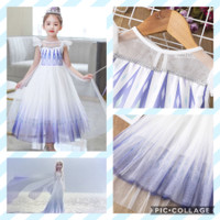 New elsa dress. Baju kostum costume anak cewek frozen 2 princess ungu