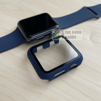 Case Apple Watch 3 2 1 Casing & Glass Full Cover TG Hard 38mm 42mm