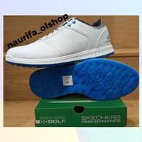 SEPATU GOLF PRIA SKECHERS WHITE / GRAY / BLUE ORIGINAL