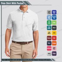 Kaos Kerah Polo T Shirt Casual Pria Putih Polos Good Quality