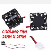 Cooling fan motor brushless 25mm x 25mm heat shrink 540 550 RC 2.5cm