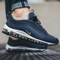 Sepatu Nike Air Max 97Midnight Navy Biru Dongker Premium