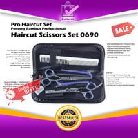 Pro Haircut Set Potong Rambut Professional Haircut Scissors Set 0690