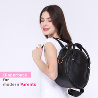 tas bayi modis 3in1 diaperbags buccubag roundy black