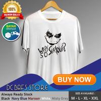 Baju Kaos Tshirt Superhero Super Hero Dewasa Keren Premium DC Joker - Putih, M