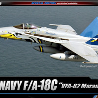 Model Kit Academy U.S NAVY F/A-18C VFA-82 MARAUDERS LE 12534 1/72