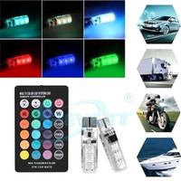 F16 LAMPU LED MOBIL MOTOR T10 RGB JELLY SMD ISI 2PCS + REMOTE