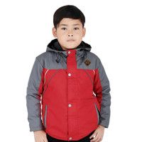 Catenzo - Jaket Hoodie Anak Laki Laki CDG 144 Merah Kombinasi