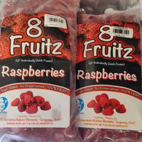 8 fruitz IQF raspberry frozen 500gr / buah raspberry beku