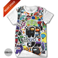 Baju Among Us Kaos Anak Cowok Dewasa Kaos Game Trend #REG-496
