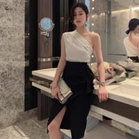 One shoulder (top & skirt) - S