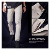Celana Chino chinos cino cinos Panjang Pria slim fit cowok warna Cream