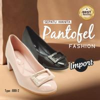 Sepatu Wanita Pantofel Fashion Import Model-01 - Hitam, 36