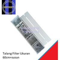 Top Filter / Talang Filter / Box Filter Aquarium Plus Tutup 60cm