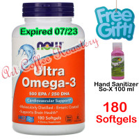 Ultra Omega-3, Now Foods ( USA PRODUCT ) 180 Softgels