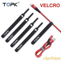 TOPK Velcro Cable Tie Organizer Cord Holder Strap PENGIKAT KABEL