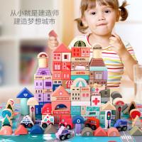 Building Blocks City Urban Transport 115Pcs - Wooden Toys Mainan Balok
