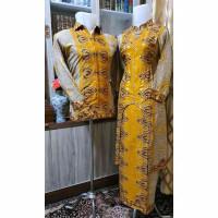 Batik songket Palembang kuning