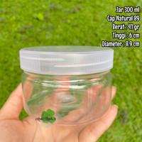 Toples Jar 300 ml toples plastik 300 ml tebal good quality - Tutup Natural