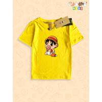 Kaos Baju anak Kids Premium Anime one piece Luffy Baby empeng