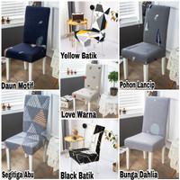 Cover KURSI makan - Sarung kursi MOTIF import stretch