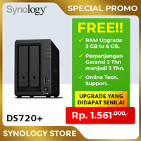 SYNOLOGY DS720+ NAS Network Storage 2Bay Backup Server Desktop Plus2