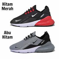 Sepatu Sport Nike Airmax 270 Grade Ori Abu Abu Hitam Sneakers Pria