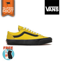sepatu vans oldskool low - yellow black (grade original)