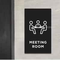 Sign Meeting Room Acrylic Modern 15x25   Sign Board Acrylic