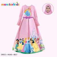 Baju Gamis Anak Princess Pink / Baju Muslim Anak