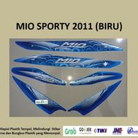 Mio Sporty 2011 Biru Motor Yamaha Stiker Striping Stripping Sticker