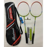 Paket Raket Bulutangkis Grip Shuttlecock Badminton Kok Lengkap paket