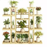 rak tanaman susun murah bunga/ rak kayu jati blanda