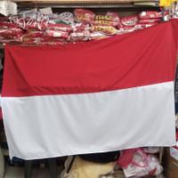 bendera merah putih besar 120x180cm bahan KATUN PAKE CANTOLAN
