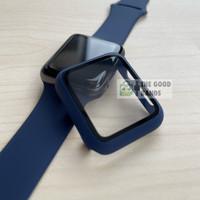 Case Apple Watch SE 6 5 4 Casing & Glass Full Cover TG Hard 40mm 44mm